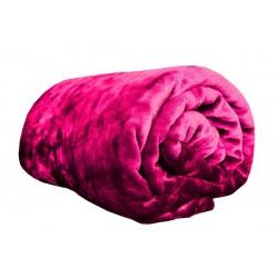 Deka z Mikroflanelu - 150 x 200 cm - tmavo ružová