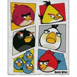 Detská fleecová deka 120x150 cm - Angry Birds