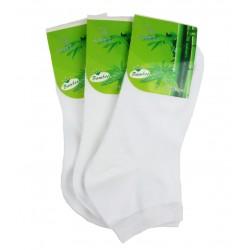 Dámske členkové bambusové ponožky - biele - 15 párov