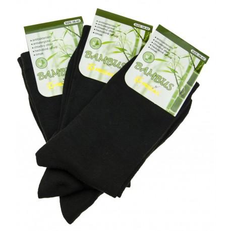 Pánske bambusové ponožky - čierne - 15 párov