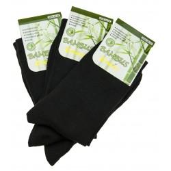 Pánske bambusové ponožky - čierne - 3 páry