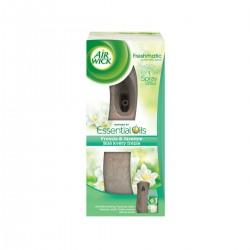Air Wick Komplet 250ml - Freshmatic osviežovač vzduchu, hnedý + náplň - Biele kvety frézie