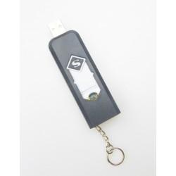 Žeraviaci zapaľovač s nabíjaním cez USB - čierny