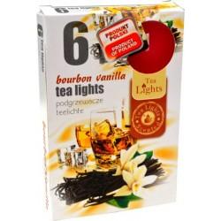 Čajové vonné sviečky (6ks) - Bourbon a vanilka