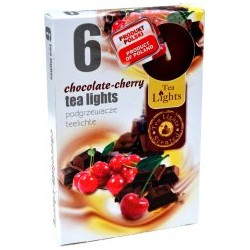 Čajové sviečky - Čokoláda a čerešne - 6 ks - Admit