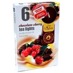Čajové vonné sviečky (6ks) - Čokoláda a čerešne