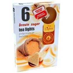 Čajové vonné sviečky (6ks) - Hnedý cukor