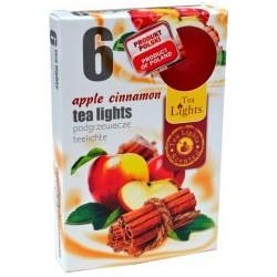 Čajové vonné sviečky (6ks) - Jablko a škorica