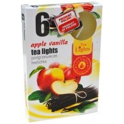 Čajové vonné sviečky (6ks) - Jablko a vanilka