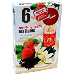 Čajové sviečky - Jahoda a vanilka - 6 ks - Admit