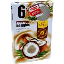 Čajové vonné sviečky (6ks) - Kokos