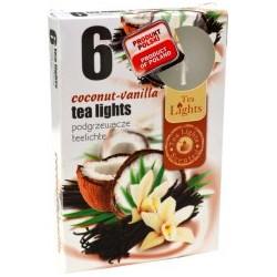 Čajové vonné sviečky (6ks) - Kokos a vanilka