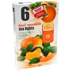 Čajové vonné sviečky (6ks) - Mandarinka