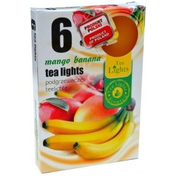 Čajové vonné sviečky (6ks) - Mango a banán