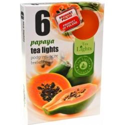 Čajové vonné sviečky (6ks) - Papaya