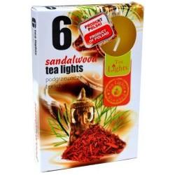 Čajové vonné sviečky (6ks) - Santalové drevo
