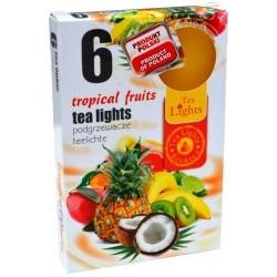 Čajové vonné sviečky (6ks) - Tropické ovocie