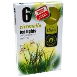 Čajové vonné sviečky (6ks) - Citronella