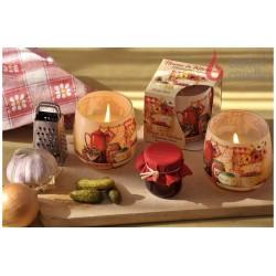 Vonná sviečka v skle - Home & kitchen ovocný džem, 100g