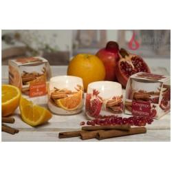 Vonná sviečka v skle - Škorica & granátové jablko, 100g