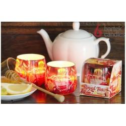 Vonná sviečka v skle - Royal Tea citrón a med, 100g