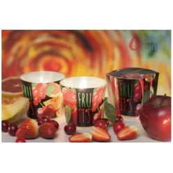 Vonná sviečka v skle - TuttiFrutti červené ovocie, 100g