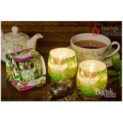 Vonná sviečka v skle - Zelený čaj s verbenou, 100g