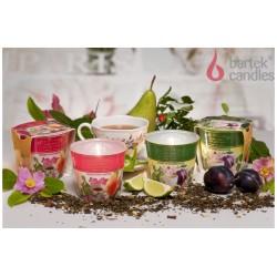 Vonná sviečka v skle - Čierny čaj, slivka a čerešňový kvet, 115g