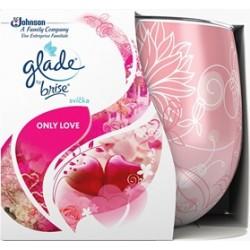 Vonná sviečka skle Glade - Only love, 120g