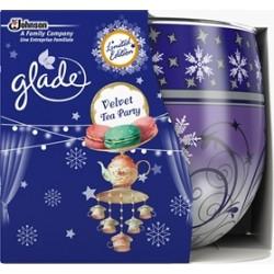 Vonná sviečka skle Glade - Velvet Tea Party, 120g