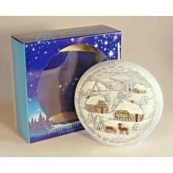 Dekoratívna vonná sviečka - Betlehem disk - 480g - Bartek Candles