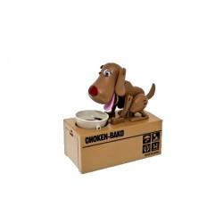 Pokladnička na mince - hladný psík - hnedý