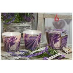 Vonná sviečka v skle - Bozk levandule, levanduľový olej, 115g