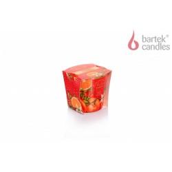 Vonná sviečka v skle - Vianočná záhrada - pomaranč, vanilka a plané ruže, 115g