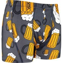 Boxerky s motívom - pivo - šedé