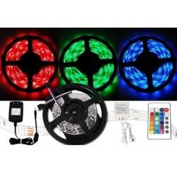 Farebný LED pás 3528 - 5 metrov - kompletný set