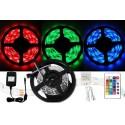 Farebný LED pás 5050 - 5 metrov - kompletný set
