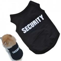 Bavlnené tričko pre psíka s nápisom SECURITY