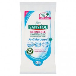 Čistiace antialergénne dezinfekčné obrúsky - 36 ks - Sanytol