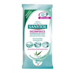 Čistiace dezinfekčné obrúsky na povrchy - 36 ks - Sanytol