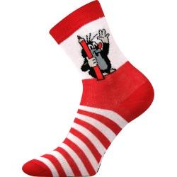 Detské ponožky - Krtko - červené - Boma
