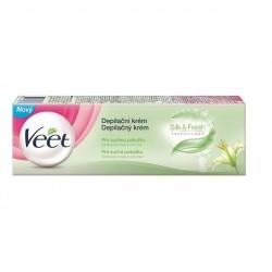 Veet®  depilační krém Bambucké máslo & lilie suchou pokožku 100 ml
