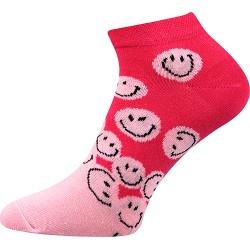 Dámske členkové ponožky - Smajlíci