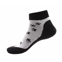 Unisex členkové ponožky - Čierne labky