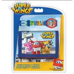 Darčeková sada - peňaženka a hodinky Super Wings