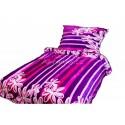 MikroFlanelové obliečky BedStyle - Čierne s ornamentami