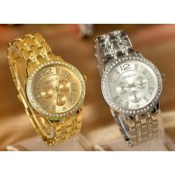 Dámske hodinky Geneva - s kryštálmi Elements - strieborné