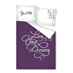 Bavlené obliečky na jednolôžko - Live Your Dreams