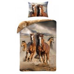 Bavlené obliečky na jednolôžko - Divé kone