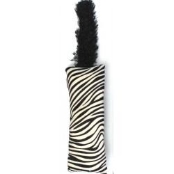Interaktívna hračka s chvostom pre mačičku - vzor zebra